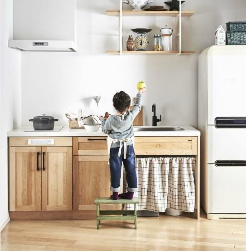 あなただけのキッチンを存分に楽しむ!マンションや二世帯住宅にちっちゃい木のキッチンはいかが...