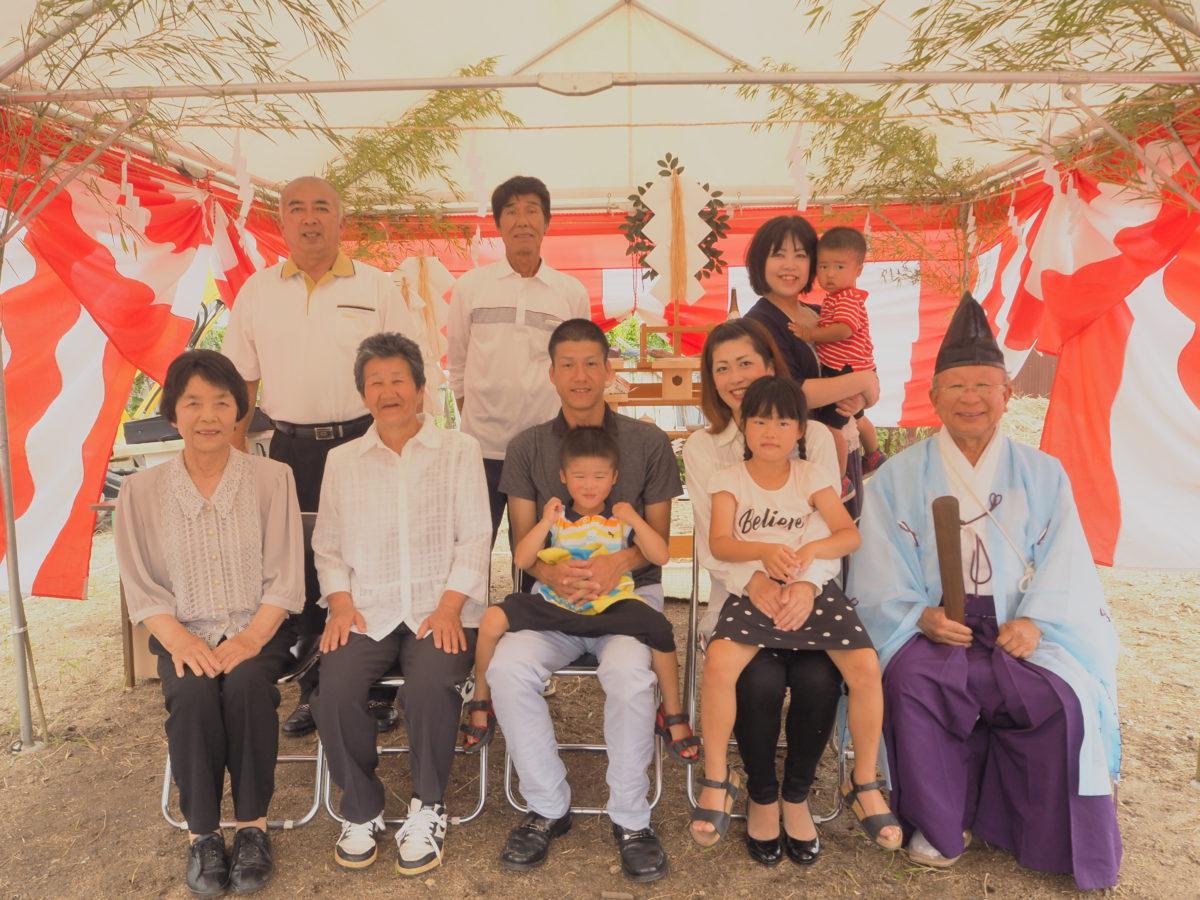 弓削島で地鎮祭を行いました。
