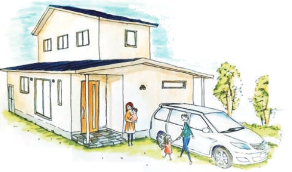 ロフトが楽しい♪家事が便利!自然素材の家@西条市